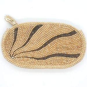 Handbags - Seed Pearl and Crystal Beaded Evening Clutch